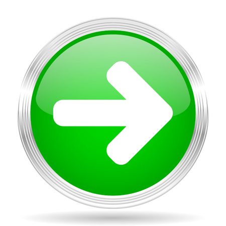 green arrow: right arrow green modern design web glossy icon Stock Photo
