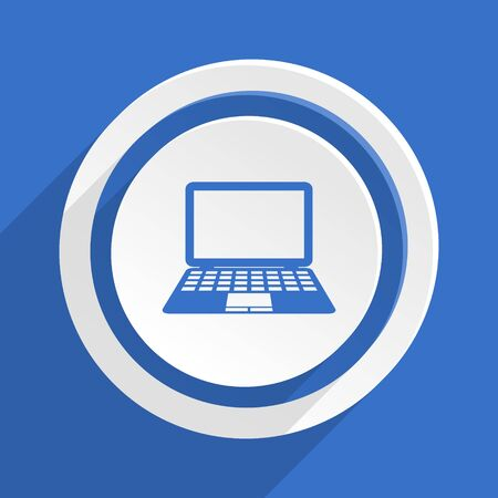 movable: computer blue flat design modern icon
