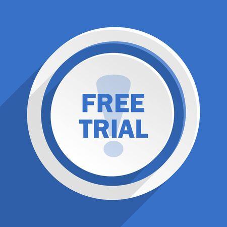 free trial: free trial blue flat design modern icon