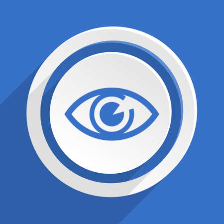 optician: eye blue flat design modern icon