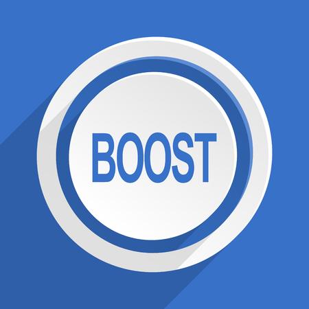 boost: boost blue flat design modern icon