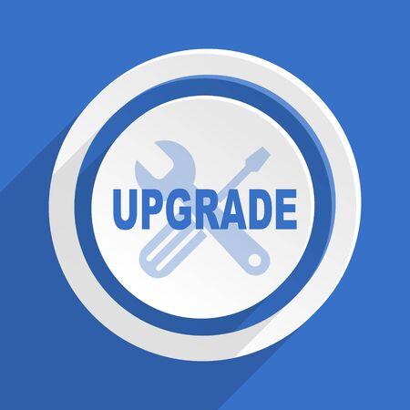 refreshed: upgrade blue flat design modern icon