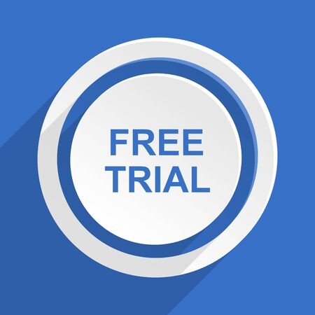gratuity: free trial blue flat design modern icon