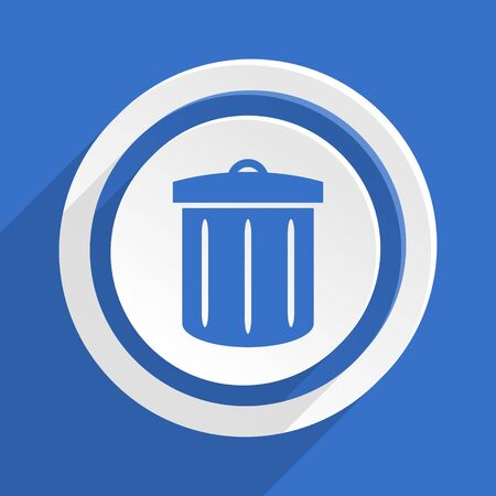 application recycle: recycle blue flat design modern icon