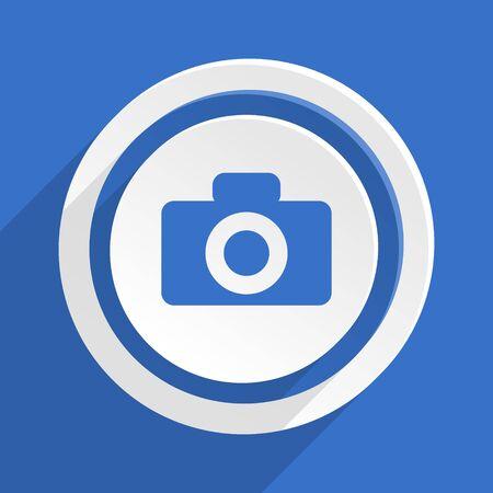 picto: camera blue flat design modern icon