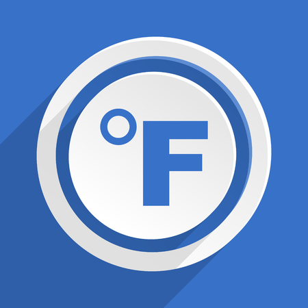 fahrenheit: fahrenheit blue flat design modern icon