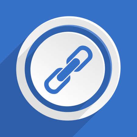 cohesion: link blue flat design modern icon Stock Photo