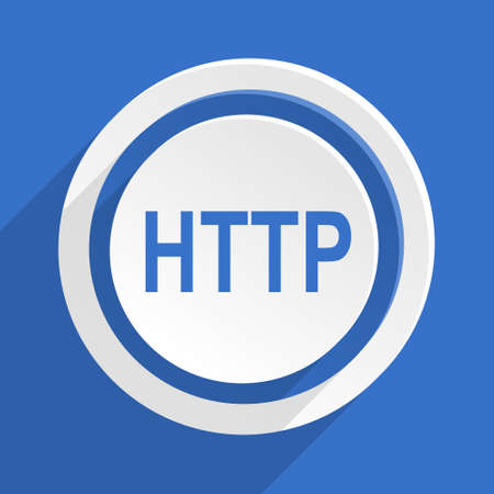 http: http blue flat design modern icon