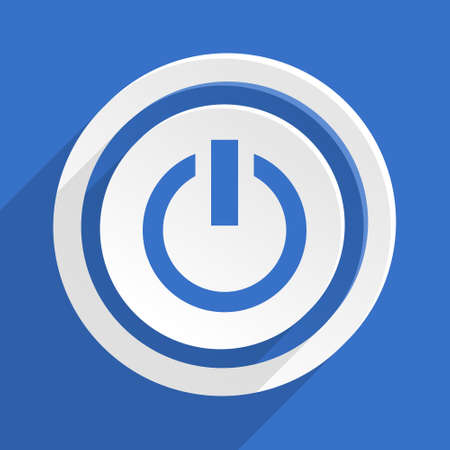 run off: power blue flat design modern icon