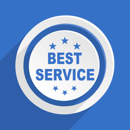 best service: best service blue flat design modern icon Stock Photo