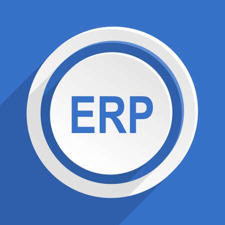 erp: erp blue flat design modern icon Stock Photo