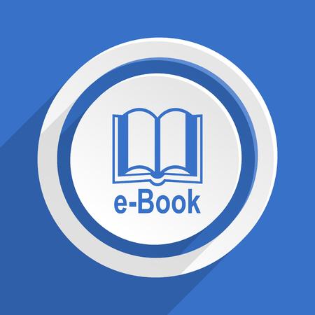 reading app: book blue flat design modern icon