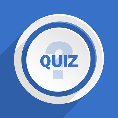 quiz: quiz blue flat design modern icon