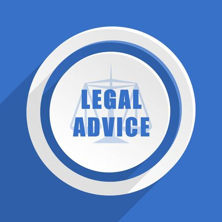 advisor: legal advice blue flat design modern icon Stock Photo