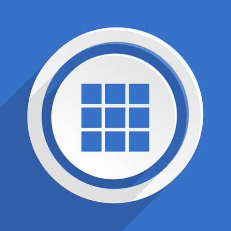 thumbnails: thumbnails grid blue flat design modern icon Stock Photo