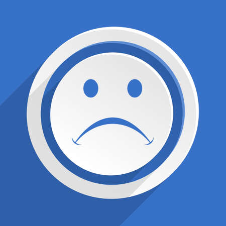 negate: cry blue flat design modern icon
