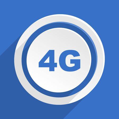 4g: 4g blue flat design modern icon