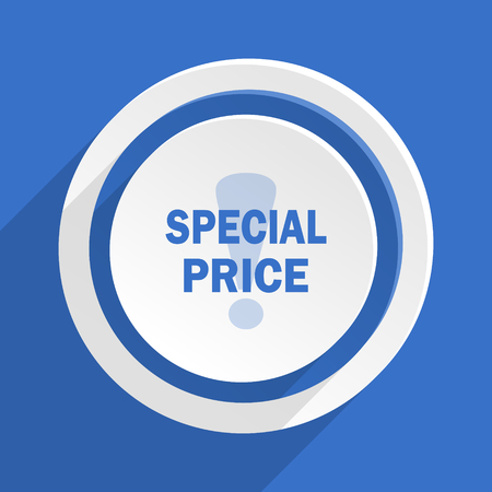 special price: special price blue flat design modern icon Stock Photo