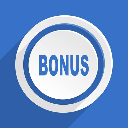 bonus: bonus blue flat design modern icon