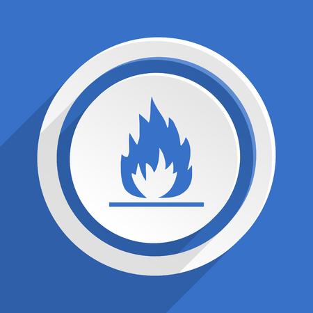 blue flame: flame blue flat design modern icon