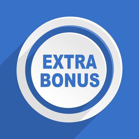 extra: extra bonus blue flat design modern icon Stock Photo