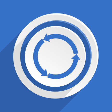application recycle: refresh blue flat design modern icon