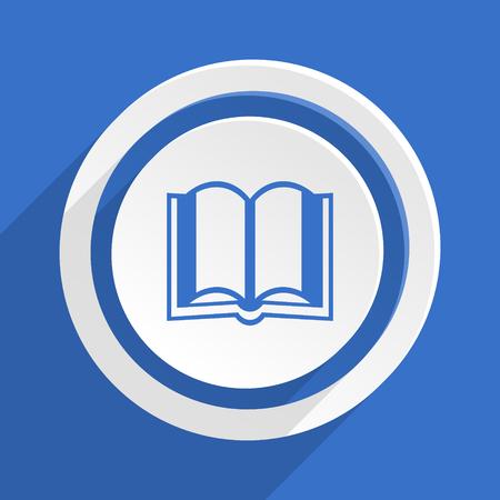 guestbook: book blue flat design modern icon