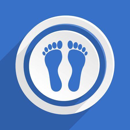 orthopedics: foot blue flat design modern icon