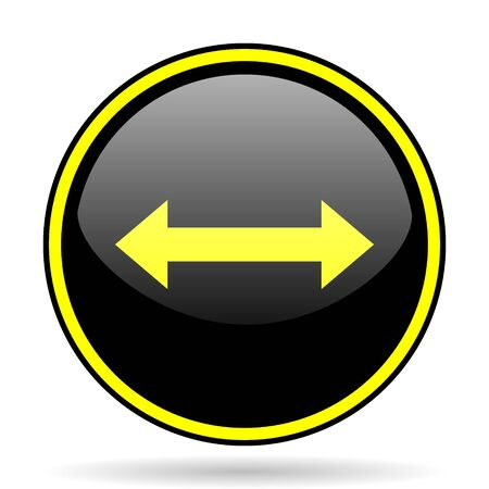 sterring: arrow black and yellow modern glossy web icon
