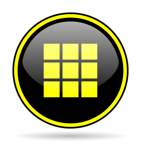 thumbnails: thumbnails grid black and yellow modern glossy web icon