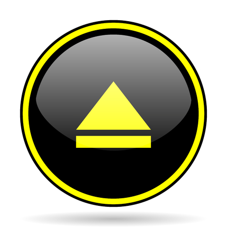 eject icon: eject black and yellow modern glossy web icon