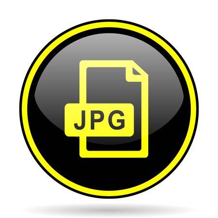 yelow: jpg file black and yellow modern glossy web icon