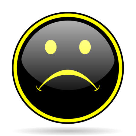 negate: cry black and yellow modern glossy web icon