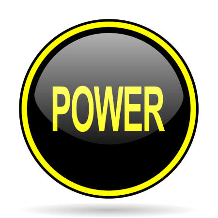 power icon: power black and yellow modern glossy web icon