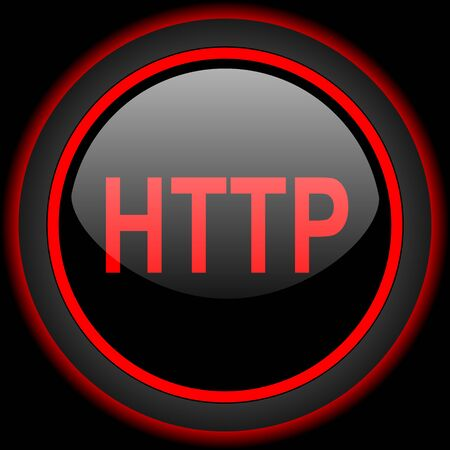 http: http black and red glossy internet icon on black background