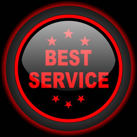 best service: best service black and red glossy internet icon on black background
