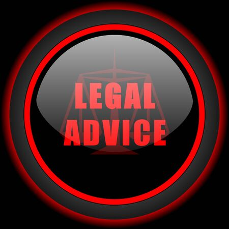 advisor: legal advice black and red glossy internet icon on black background Stock Photo