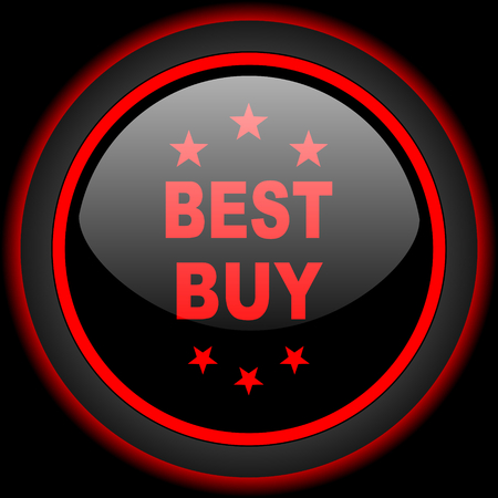 best buy: best buy black and red glossy internet icon on black background