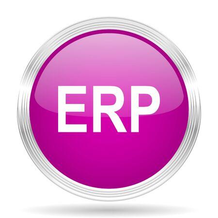 erp: erp pink modern web design glossy circle icon