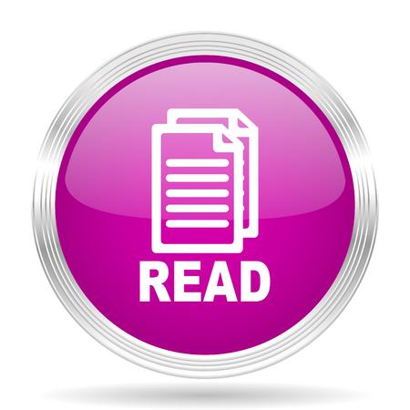 reading app: read pink modern web design glossy circle icon