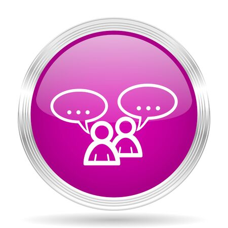 button icons: forum pink modern web design glossy circle icon