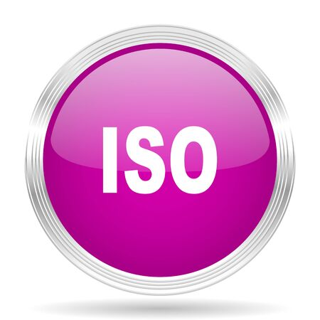 standard steel: iso pink modern web design glossy circle icon