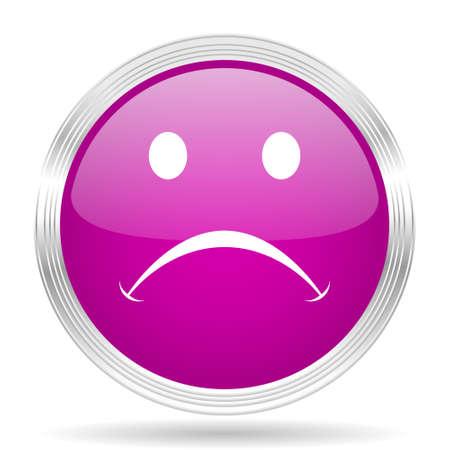 cry pink modern web design glossy circle icon