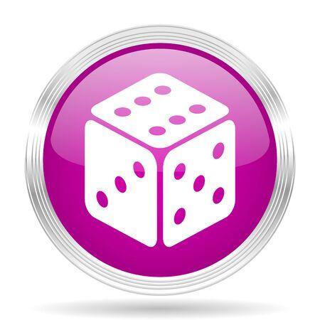 sucess: game pink modern web design glossy circle icon