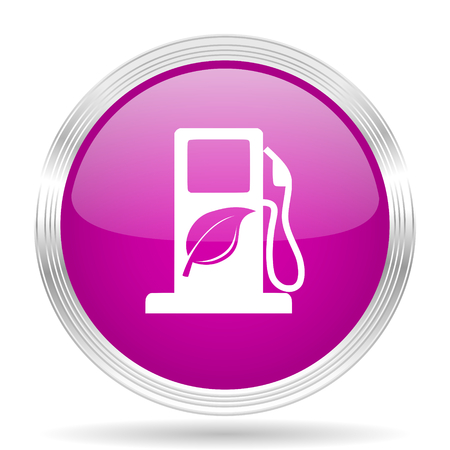 biofuel: biofuel pink modern web design glossy circle icon Stock Photo