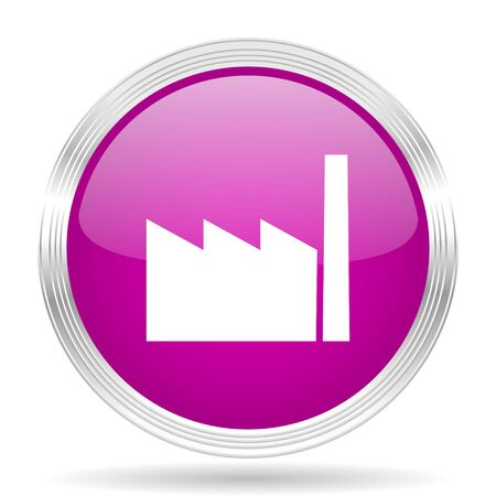 industrial complex: factory pink modern web design glossy circle icon