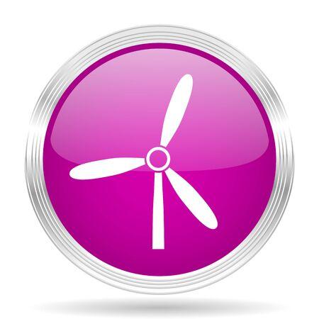steel mill: windmill pink modern web design glossy circle icon