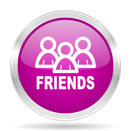 circle of friends: friends pink modern web design glossy circle icon