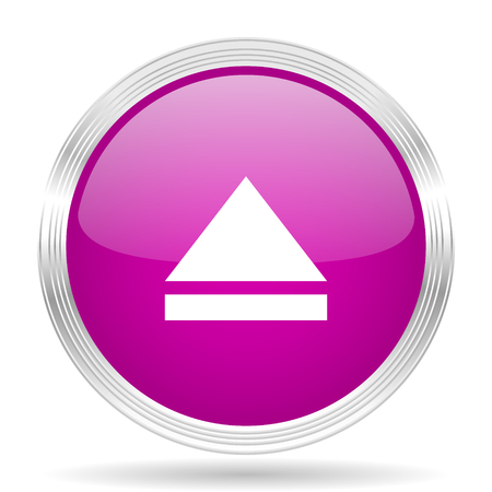 eject: eject pink modern web design glossy circle icon