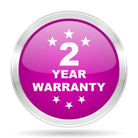 web 2: warranty guarantee 2 year pink modern web design glossy circle icon